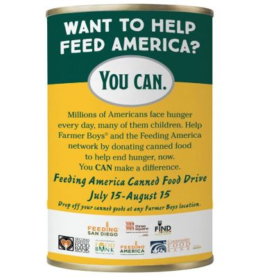 Farmer Boys Hosts Canned Food Drive Through August 15