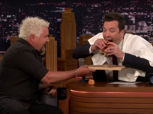 Watch Guy Fieri Impart His Burger-Eating Wisdom to Jimmy Fallon