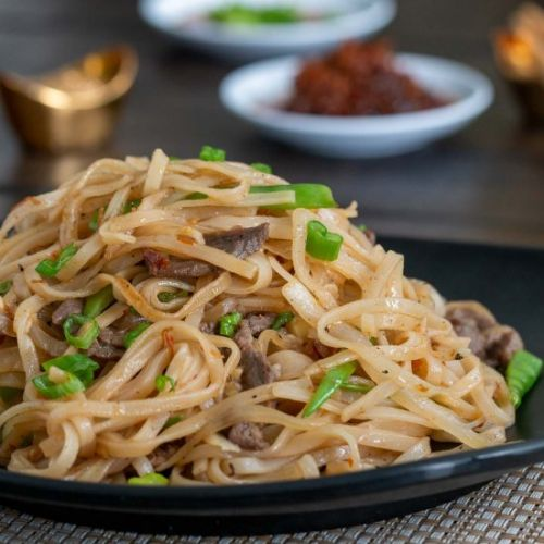 Beef Noodle with Spicy XO Sauce