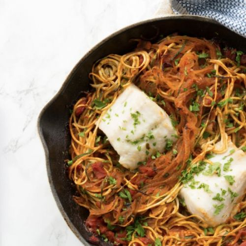 Mediterranean Fish with Zoodles