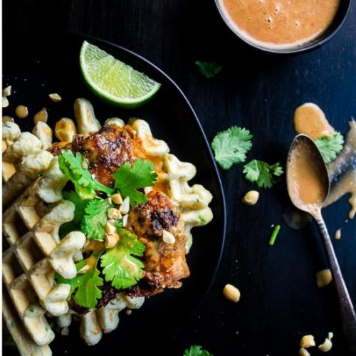 Thai Fried Chicken and Waffles
