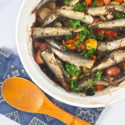 One-Pan Sardine Bake