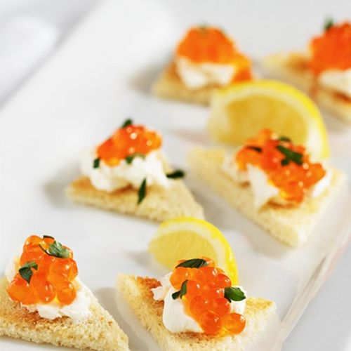 Wild Salmon Eggs And Cream Cheese