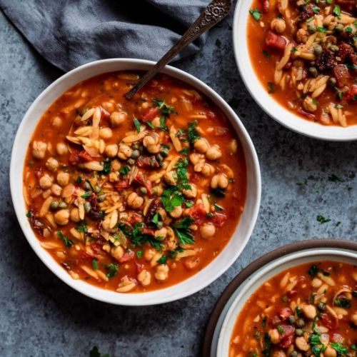 Instant Pot Chickpea Orzo Soup