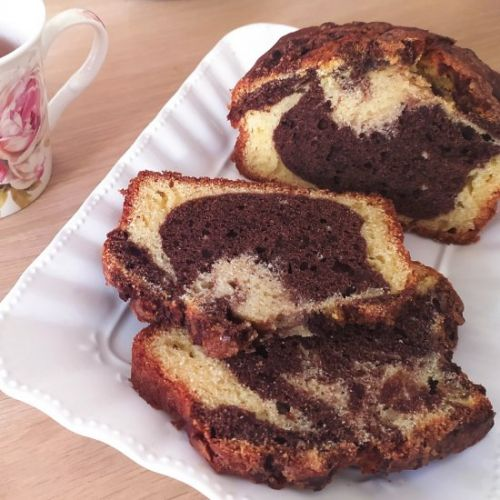 Chocolate Marbled Butter-free Bread