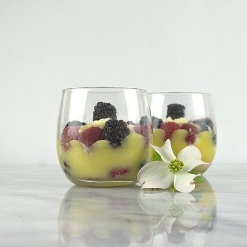 Lemon Curd Dessert with Berries