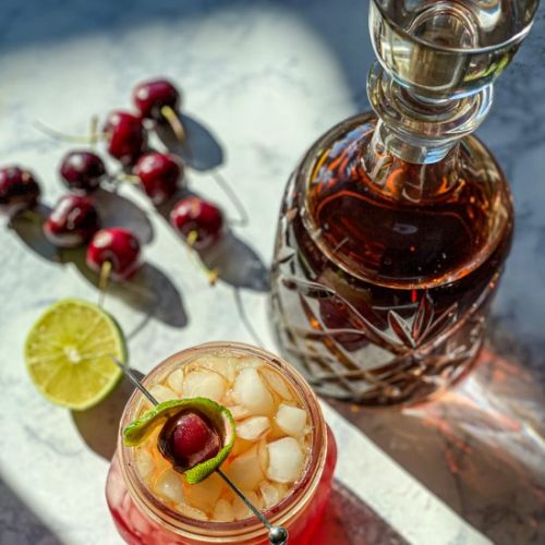 Smoky Cherry Bourbon Smash