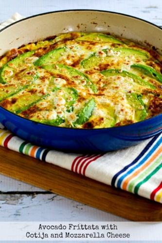 Avocado Frittata with Cotija and Mozzarella Cheese