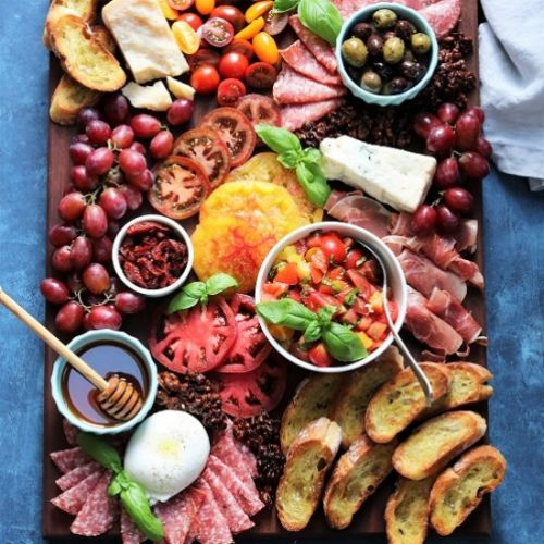 Heirloom Bruschetta Cheese Board
