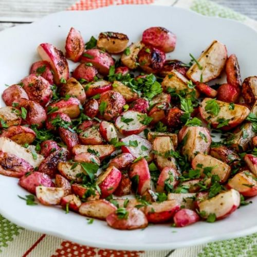 Sauteed Radishes with Vinegar Herbs