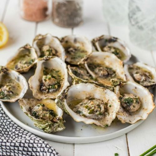 Garlic Herb Butter Grilled Oysters