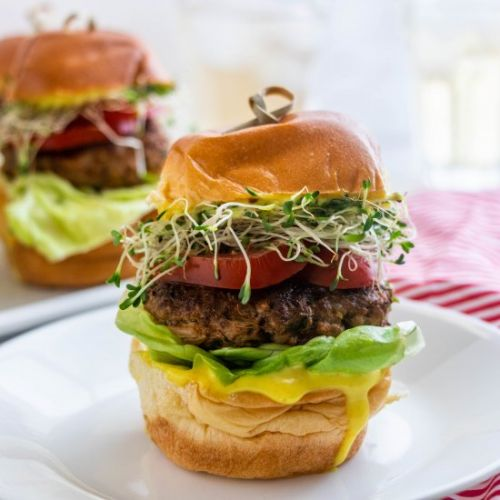 Lamb Burger Slider with Turmeric