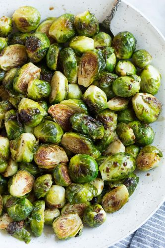 Roasted Brussels Sprouts with Balsamic and Honey