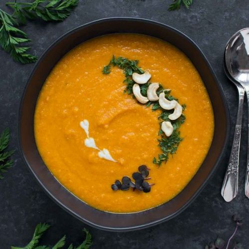 Roasted Carrot Miso Soup