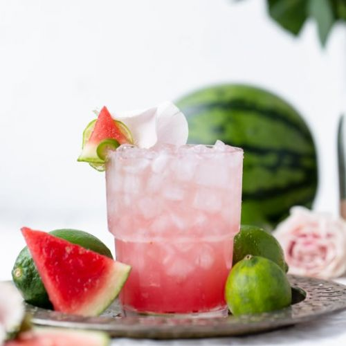 Spicy Sparkly Watermelon Margarita