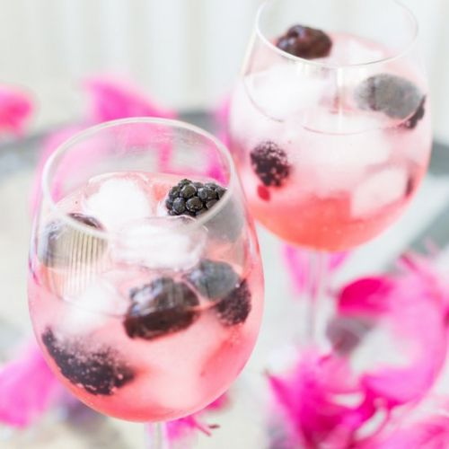 Blackberry gin and tonic