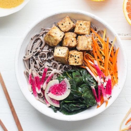 Soba Noodles w/ Orange Miso Sauce