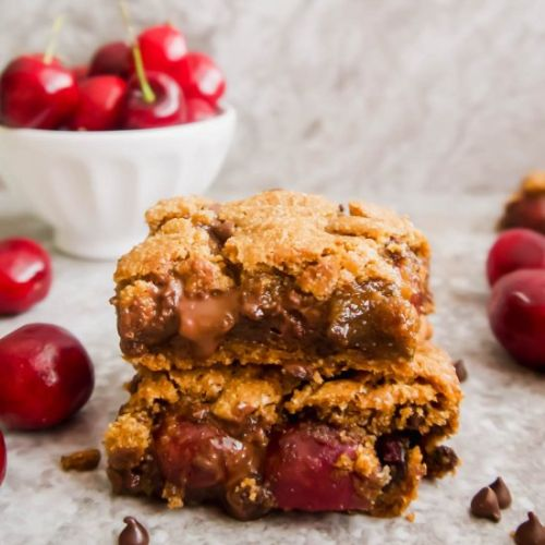 Paleo GF Chocolate Chip Cherry Bars
