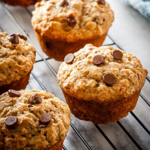 Chocolate Chip Banana Oatmeal Muffi