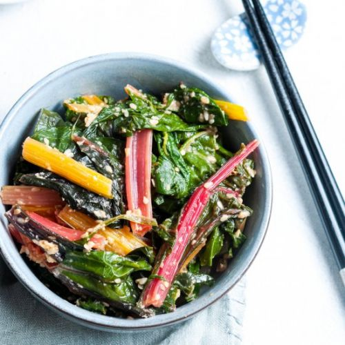 Japanese style silverbeet