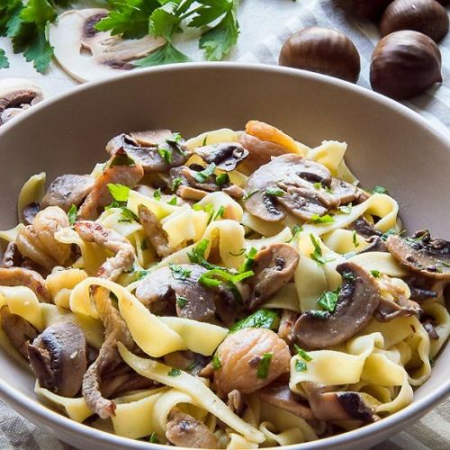 Tagliatelle w/Mushrooms & Chestnuts