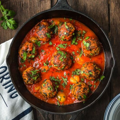 Eggless Turkey and Spinach Meatball
