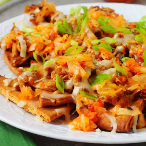 Korean BBQ Jackfruit Nachos