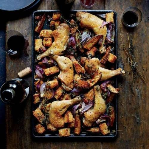 Photography by Con PoulosSheet-Pan Chicken with Sourdough and