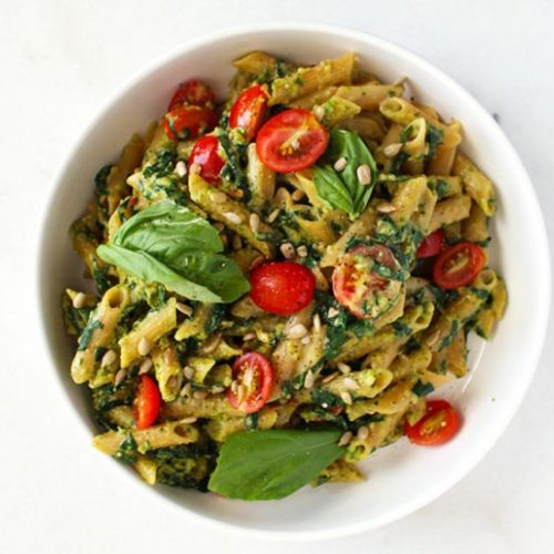 5 Ingredient Nut-Free Pesto Pasta