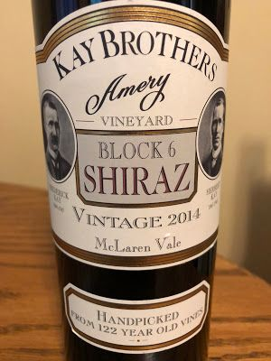 2014 Kay Brothers Amery Vineyard Block 6 Shiraz: Ancient Australian Vines