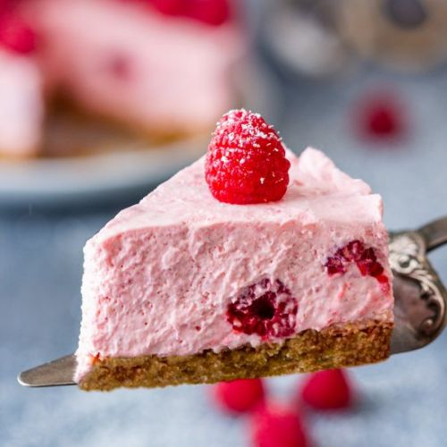 No bake raspberry cheesecake
