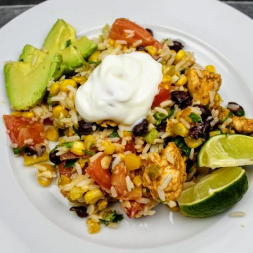 Mexican Chicken & Rice Salad