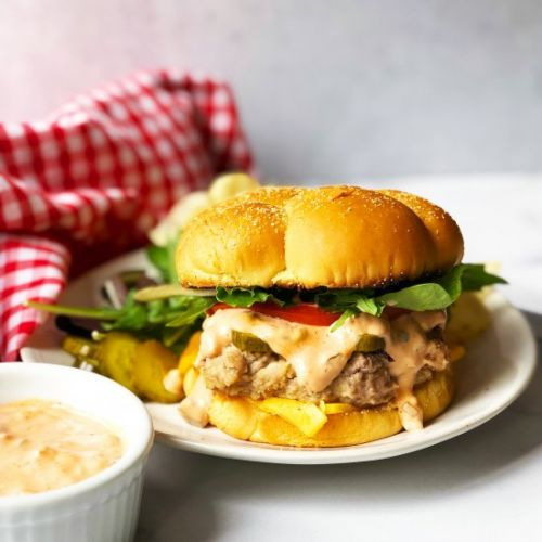 Turkey Burger with Special Sauce