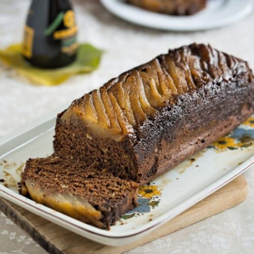 Pear Cake with Soy Sauce
