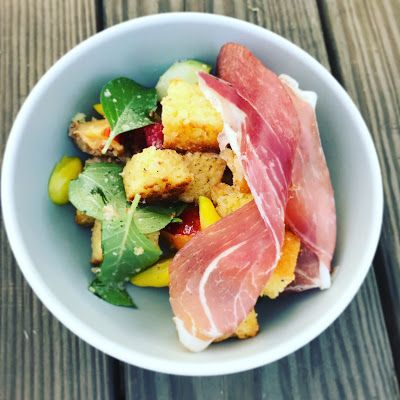 Cornbread Panzanella with Summer Produce