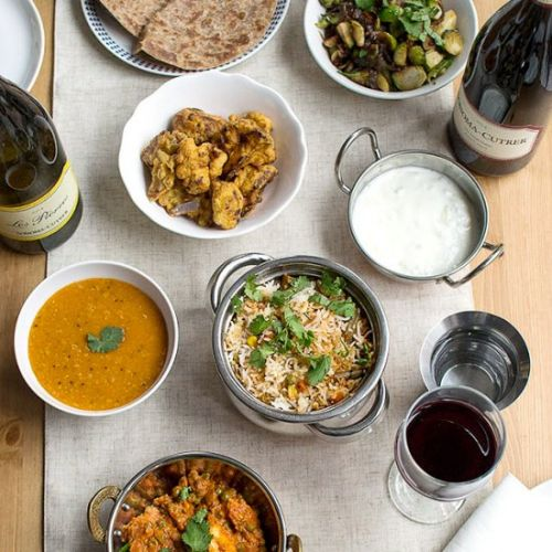 Vegetarian Indian Dinner Menu
