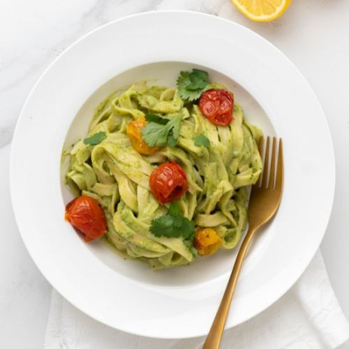 Creamy Avocado Green Pasta