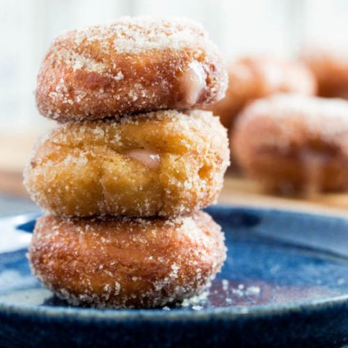 Fried Donuts with Grapefruit Curd