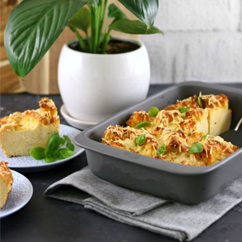 Garlic and Herb Cornbread Strata