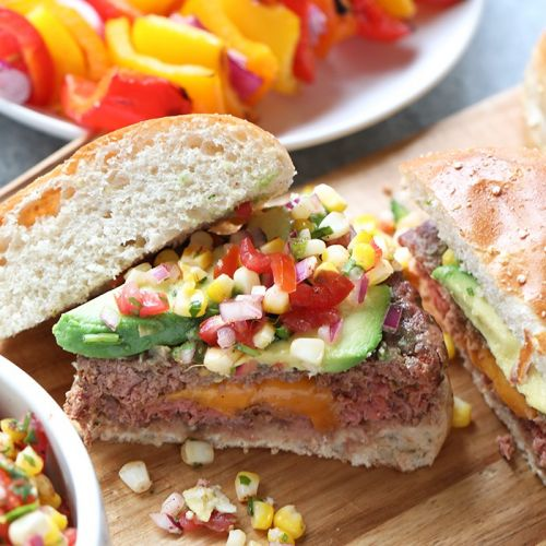 Mexican Juicy Lucy Burger