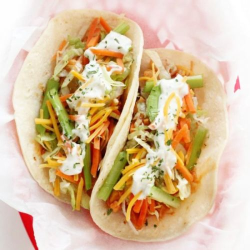 Vegan Buffalo Chicken Tacos