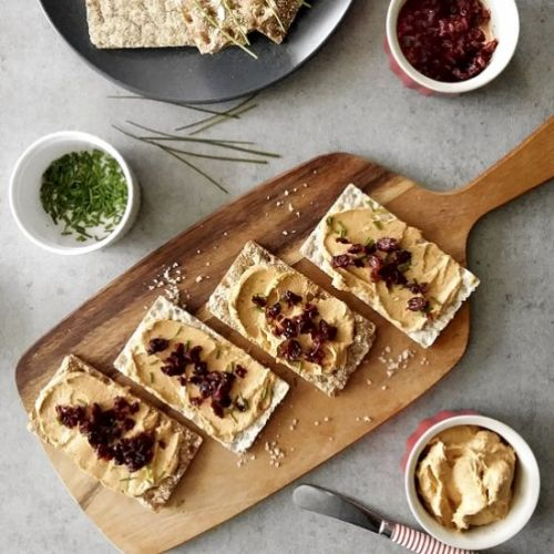 Salmon Spread with Pickled Cherries
