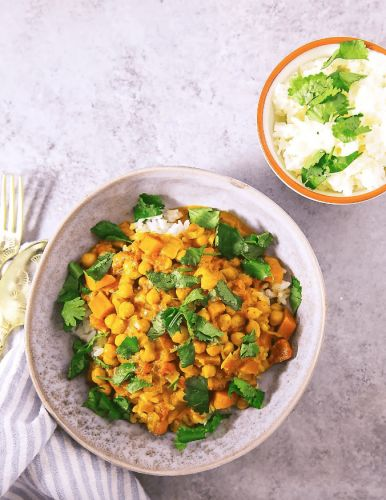Quick Chickpea Curry in the Instant Pot