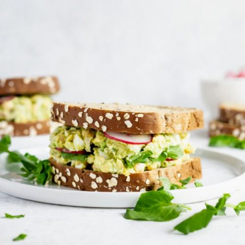 Chickpea Avocado Egg Salad Sandwich
