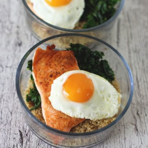 Salmon & Quinoa Breakfast Bowl