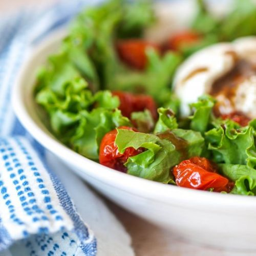 Roasted Tomato Salad with Burrata