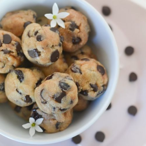 Chocolate Cherry Cookie Dough Balls