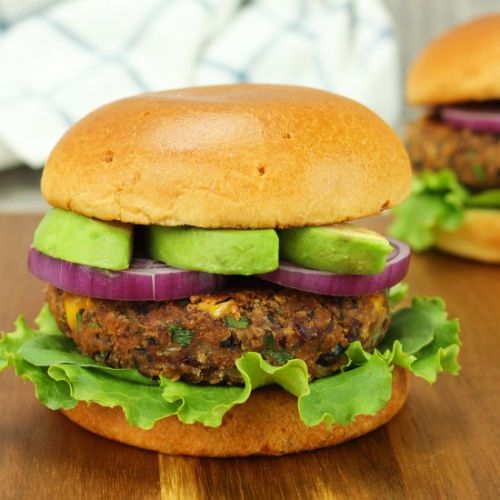 Black and Red Bean Burger
