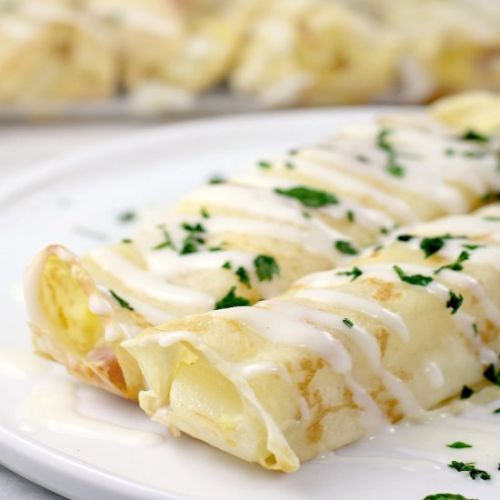 Ham and Cheese Breakfast Crepes