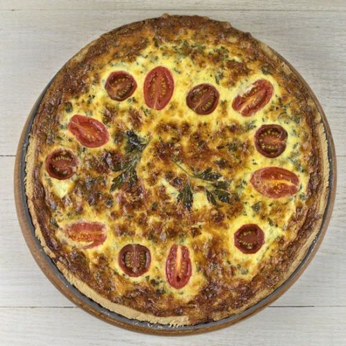 Quiche Lorraine with Tomatoes